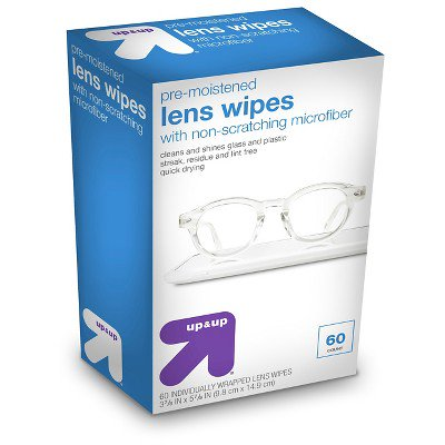 Pre-Moistened Lens Wipes - 60ct - Up&Up™