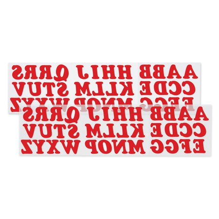 Iron Jersey Letters - Iron On Letters: Red, 1-1/4 inches, 72 pack
