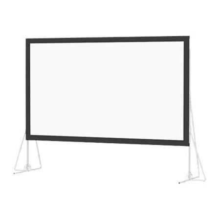 Da-Lite Heavy Duty Fast-Fold Deluxe HDTV format - Projection screen surface - rear - 245 in (244.9 in) - 16:9 - Dual Vision