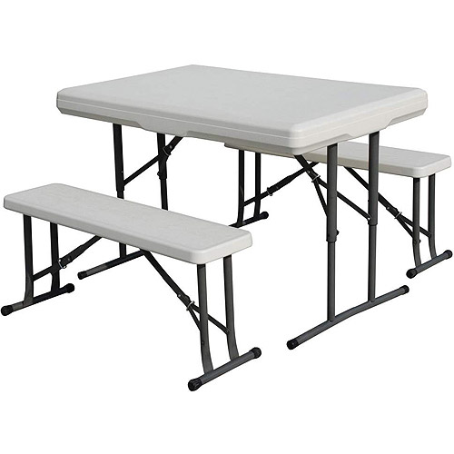 Stansport Camp Table with Folding Bench Seats by Generic