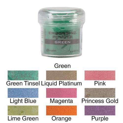 Embossing Powder 1oz Jar Lime Green
