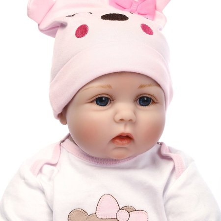 Cute Lovely Girls Realistic Silicone Reborn Newborn Baby Doll Play House Toy - image 3 de 10