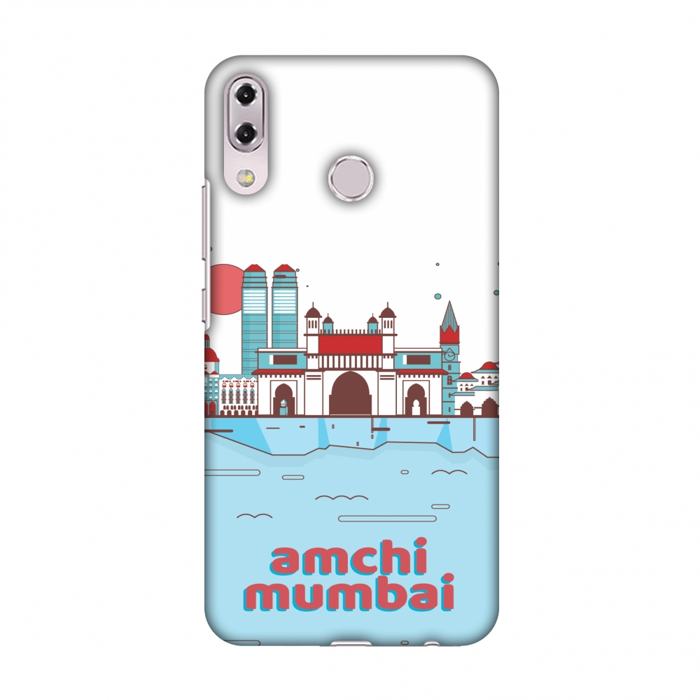 Asus Zenfone 5Z ZS620KL Case - Aamchi Mumbai, Hard Plastic Back Cover, Slim Profile Cute Printed Designer Snap on Case with Screen Cleaning Kit