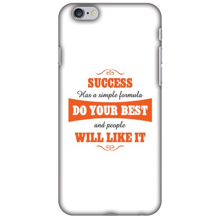 iPhone 6s Plus Case, iPhone 6 Plus Case - Success Do Your Best,Hard Plastic Back Cover, Slim Profile Cute Printed Designer Snap on Case with Screen Cleaning