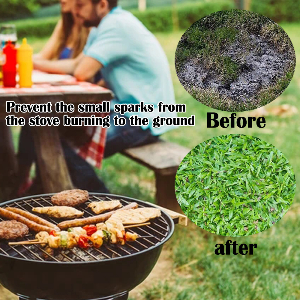Charcoal Grill 24//36 Pad Deck Protector Gas Fire Pit Under Grill Mat Protector For Wood Burning Fire Pit libelyef Fireproof Mat Fire Pit Mat BBQ Smoker Outdoor Patio