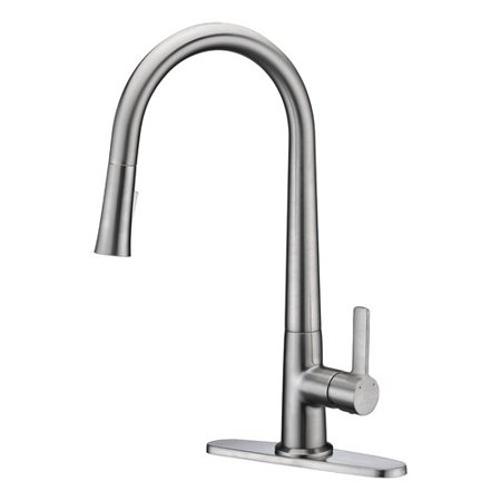 Anzzi  Orbital Single Handle Pull-Down Sprayer Kitchen Faucet in Brushed Nickel - Brushed nickel
