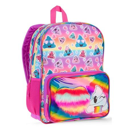 Emoji Poop Backpack - Ladybug Emoji