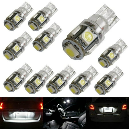 ijdmtoy 10 5 smd 5050 168 194 2825 w5w led replacement bulbs for car interior map dome lights. Black Bedroom Furniture Sets. Home Design Ideas