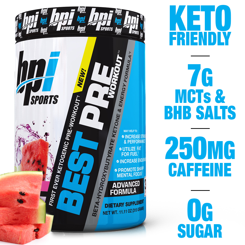 BPI Sports Best Pre Workout Pre Workout Watermelon Ice, 30 Servings - Walmart.com - Walmart.com