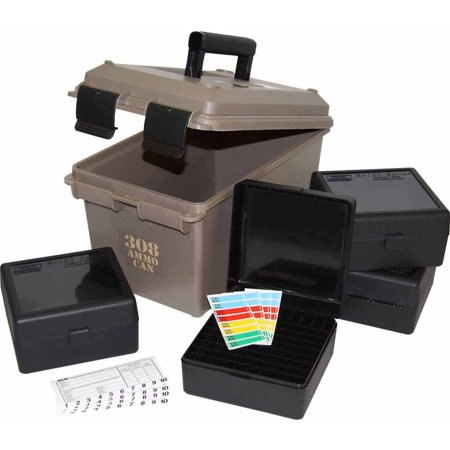 MTM 308-Caliber Ammo Can with 4 RM-100 Boxes, Dark Earth