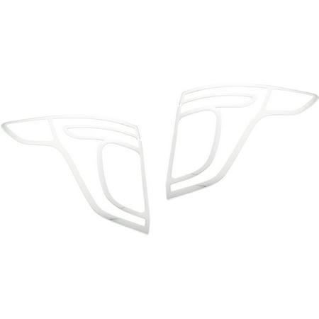 ABS Chrome Tail Light Bezel Tape-On for 11-13 Ford Explorer Chrome Tailight (Light Chrome Bezel)