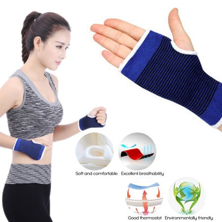 Wholesale 1 PCS Sports Wrist Knitting Wrist Guards P-alm Hand Care Health Warm Cotton Protective Gear Playing Martial Arts Fitness 12cm * 9cm Valeo Fitness Gear Cotton