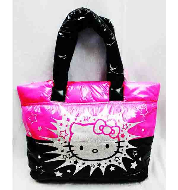 Tote Bag - Hello Kitty - Sliver & Pink New Gifts Girls Hand Purse 3069554