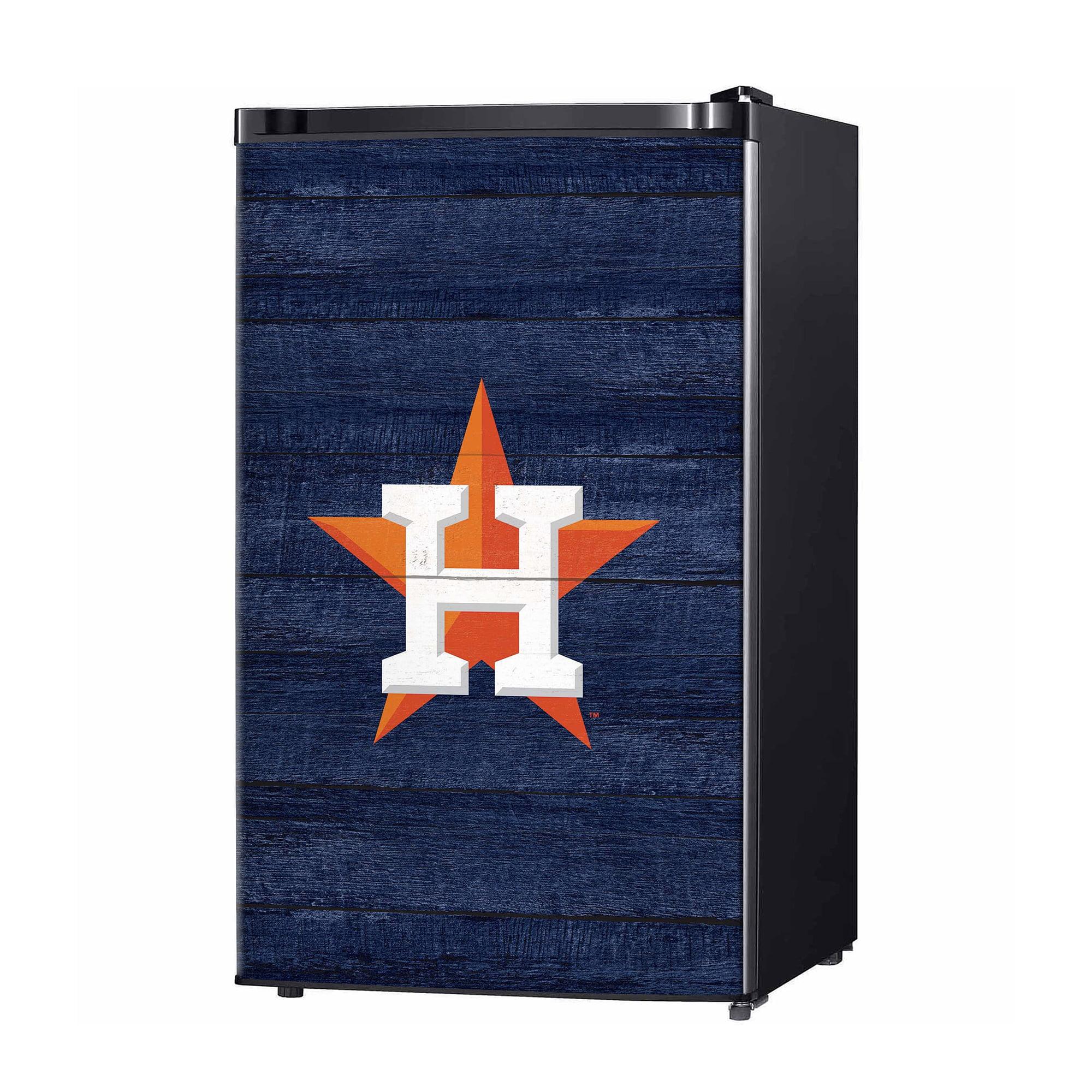 Houston Astros Wood Logo Fridge Skin
