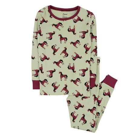 Bunny Pajamas For Kids (Leveret Kids Pajamas Unicorn Overall Print Boys & Girls 2 Piece pjs Set 100% Cotton Size 4)