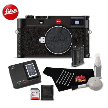 Leica M10 Digital Rangefinder 24MP Camera 20000 (Black) Bundle w/16GB SDHC Memory