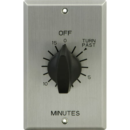 Electronic Auto Shut Off Timers - GE In-Wall Spring-Wound 15 Minute Countdown Timer, 15303
