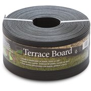 """Terrace Board, Black, 5"""" x 40' with 10 Stakes"""