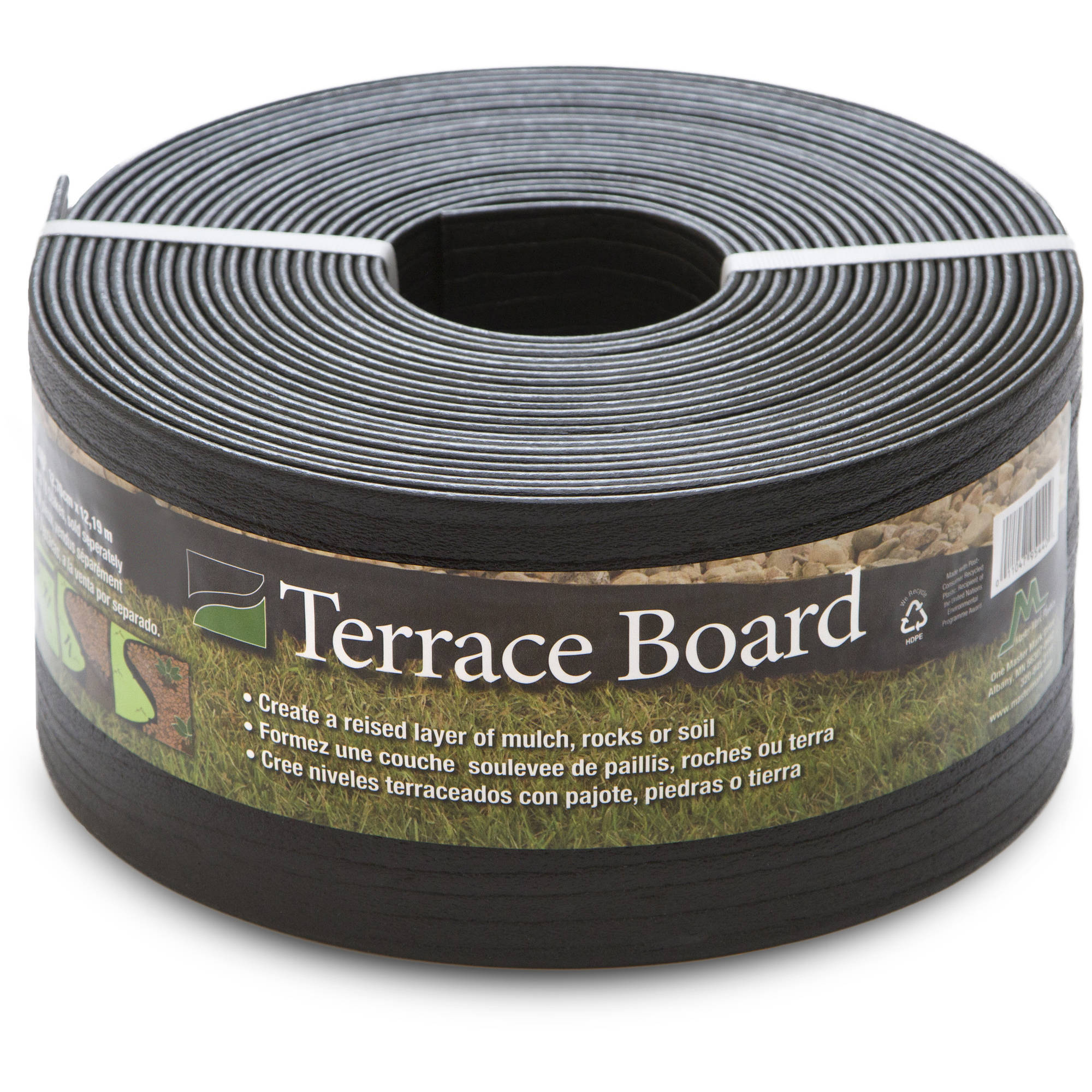 "Terrace Board, Black, 5"" x 40' with 10 Stakes"