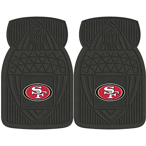 NFL 2-Piece Heavy-Duty Vinyl Car Mat Set, San Francisco 49ers