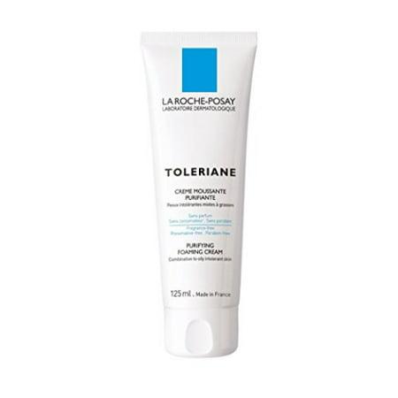 La Roche-Posay Toleriane Purifying Foaming Cream Facial Cleanser, 4.22 Oz