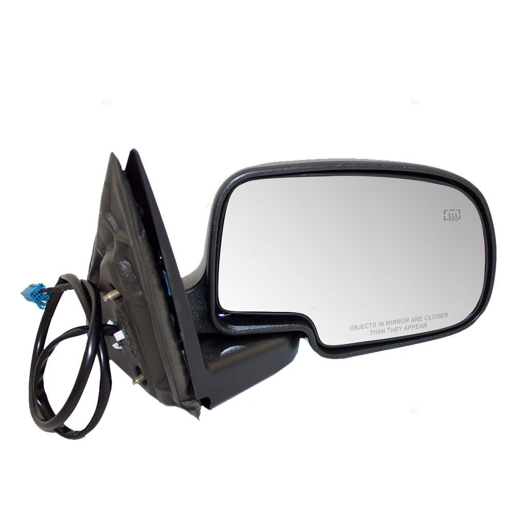 Passengers Power Side View Mirror Heated Textured Cover Replacement for Chevrolet GMC Pickup Truck 15226945