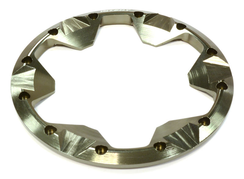 Integy RC Toy Model Hop-ups C25863GREY Billet Machined Beadlock Ring (1) for Traxxas 1 10... by Integy