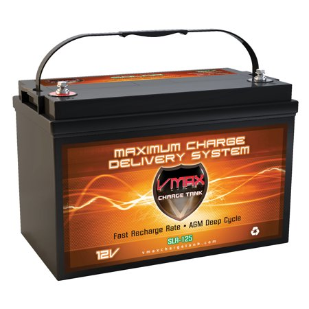 VMAX SLR125 AGM Group 31 Deep Cycle Battery Replaces Interstate 31-LHD 12V 125Ah