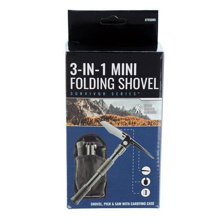 "ASR Outdoor 16"" 3 IN 1 Emergency Preparedness Mini Folding Shovel Pick and Saw"