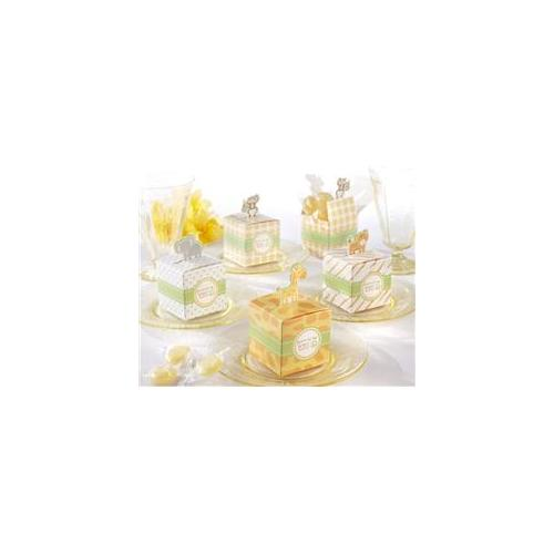 Kate Aspen 28095AS Born To Be Wild Jungle-Themed Favor Box- Set of 24 Assorted- Case of 48 sets