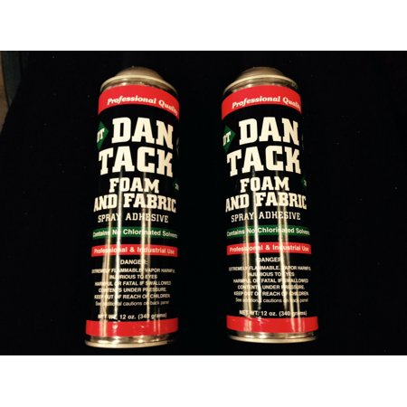 Dan Tack Spray Adhesive 12.00oz Professional Industrial Strength 2 BIG CANS ()