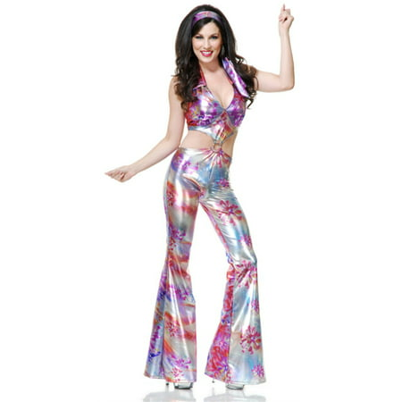 Womens Groovy Disco Girl 70's Dance (70's Girl Costume Ideas)