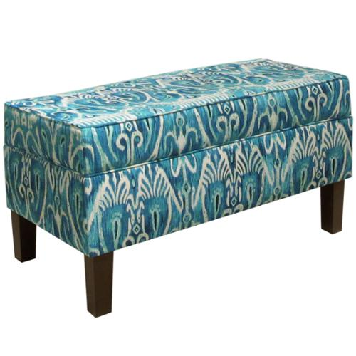 Skyline Furniture Alessandra Teal Storage Bench