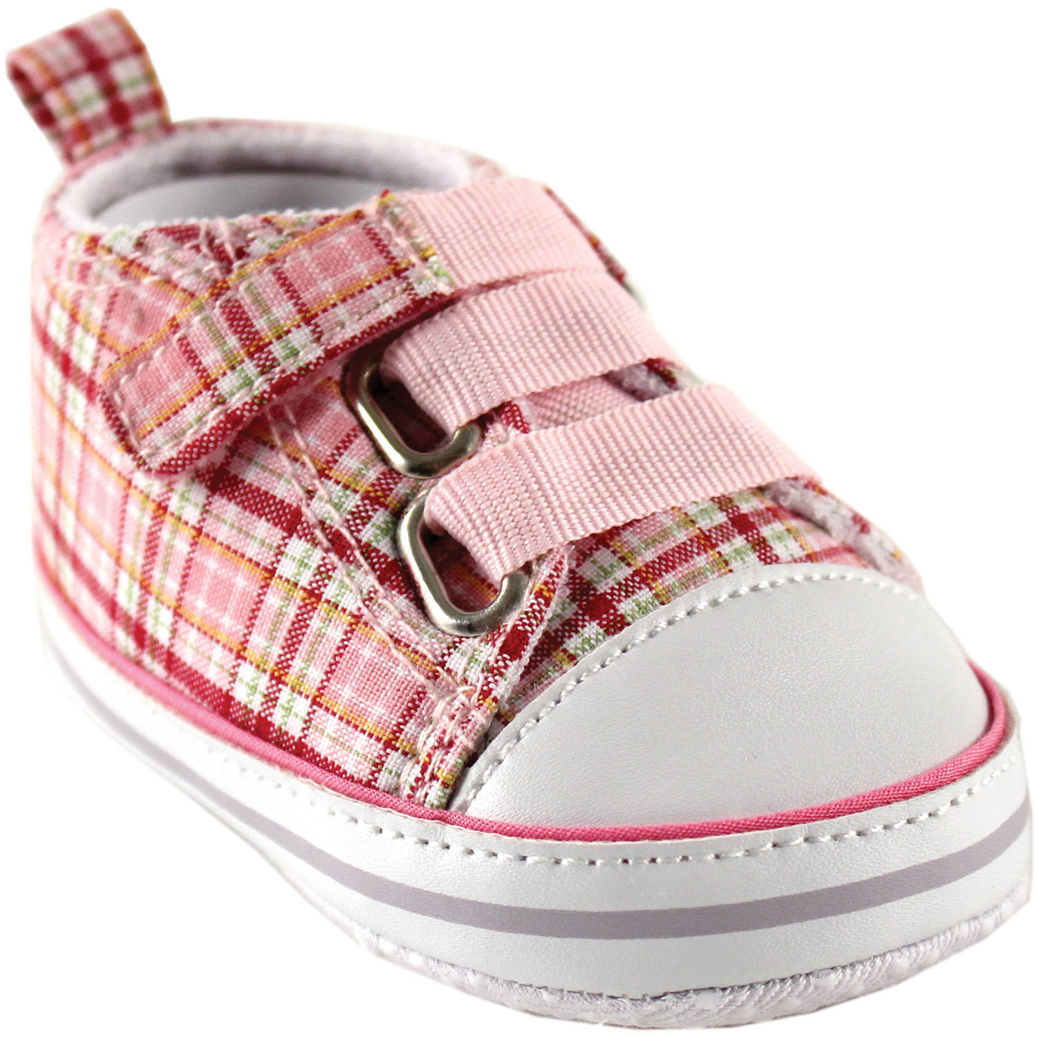 Luvable Friends Newborn Baby Girl Plaid Sneakers