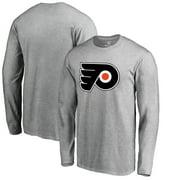 Philadelphia Flyers Fanatics Branded Big & Tall Primary Logo Long Sleeve T-Shirt - Ash