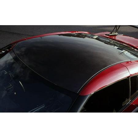 Nissan GT-R Black Carbon Fiber Protective Roof Panel Overlay Vinyl Film (Roof Overlay)
