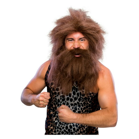 Caveman Wig - Brown - Adult Costume Accessory
