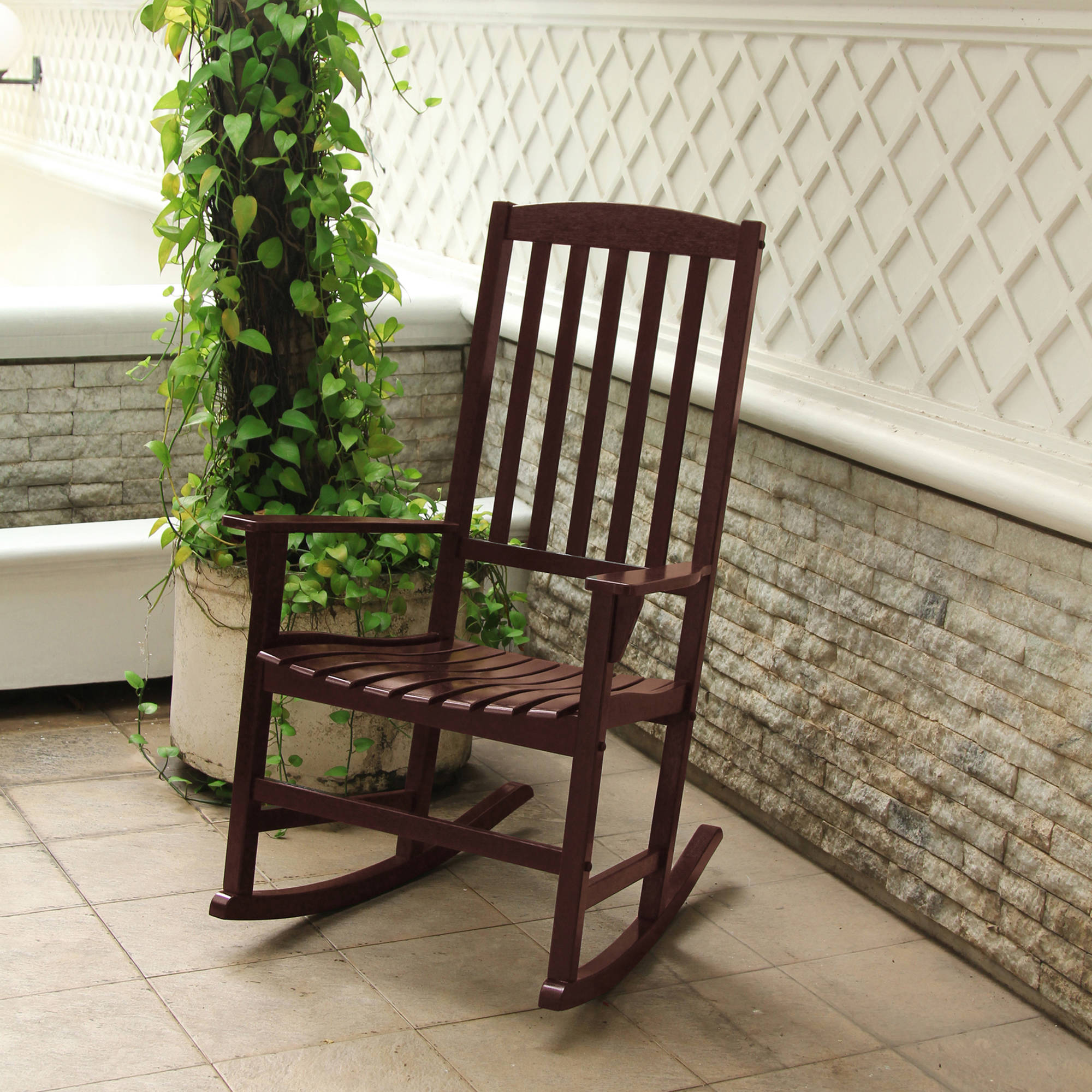 Mainstays Outdoor Rocking Chair, Brown
