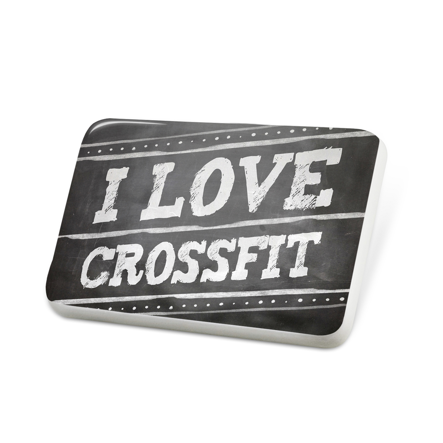 Porcelein Pin Chalkboard with I Love Crossfit Lapel Badge – NEONBLOND