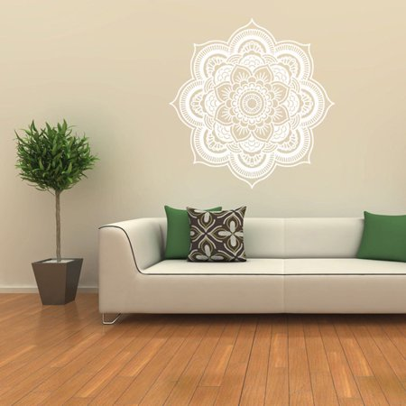 Mandala Flower Indian Bedroom Wall Decal Art Stickers Mural Home Vinyl Family WH ()