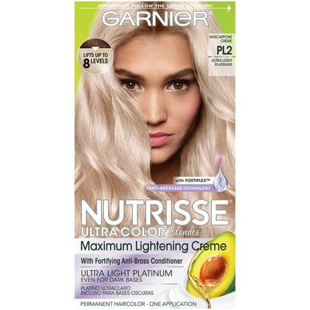 Garnier Nutrisse Ultra Color Nourishing Hair Color Creme, Mascarpone Creme  PL2, 1 kit