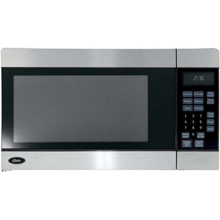 Oster 0 7 Cu Ft Countertop Microwave Oven Stainless Steel