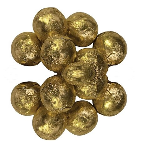 Milk Chocolate Gold Foil Wrapped Chocolate Balls, 10 Pounds - Gold Wrapped Chocolate Balls