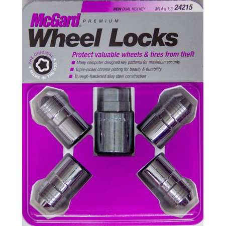 MCGARD Chrome 14 mm x 1.50 Thread Cone Seat Premium Wheel Lock 4 pc P/N