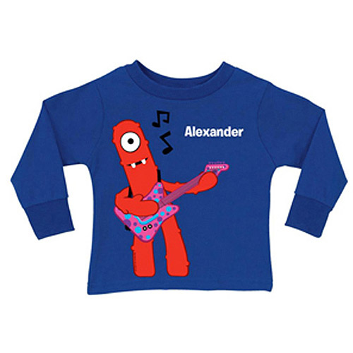 Personalized Yo Gabba Gabba! Muno Music Royal Blue Toddler Boys' Long-Sleeve Tee