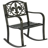 Patio Metal Rocking Chair Porch Seat Deck Outdoor Backyard Glider Rocker