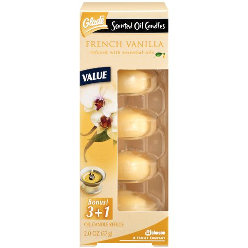 Glade Scented Oil Candles: French Vanilla Oil Candle Refills, 2 Oz