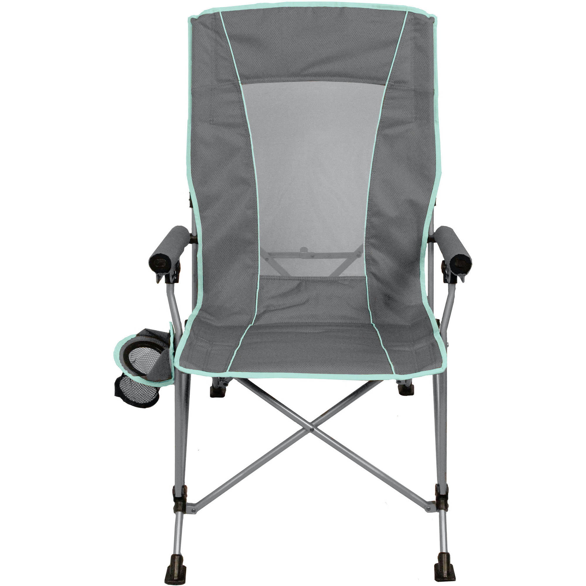 Ozark Trail 3 Position High Back Chair with Steel Frame Grey