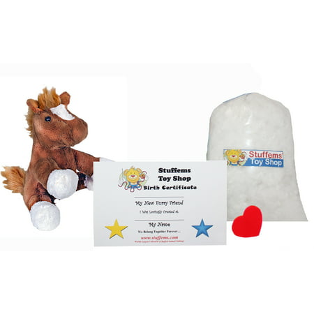 Make Your Own Stuffed Animal Mini 8 Inch Chestnut the Horse Kit - No Sewing Required! - Make Your Own Stuffed Animal