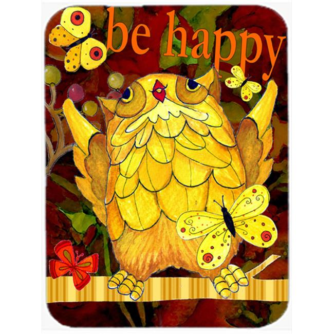 Carolines Treasures PJC1034LCB Happy Happy Day Owl Glass Cutting Board, Large - image 1 de 1